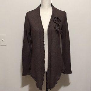 Kenar cashmere cardigan brown large
